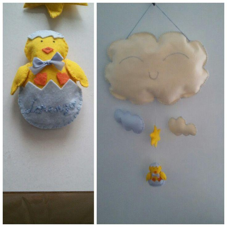 Fiocco nascita nuvoletta