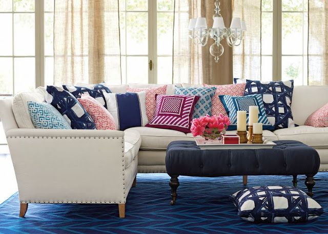 Serena and Lily : colorful sectionals - Sectionals, Sofas & Couches