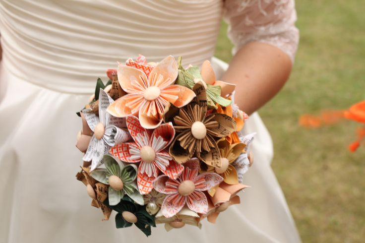 My handmade paper bouquet. I love that I will always be able to keep it. It's on display in my flat at the moment!