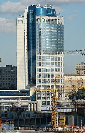 This building is near to Moscow-city business complex