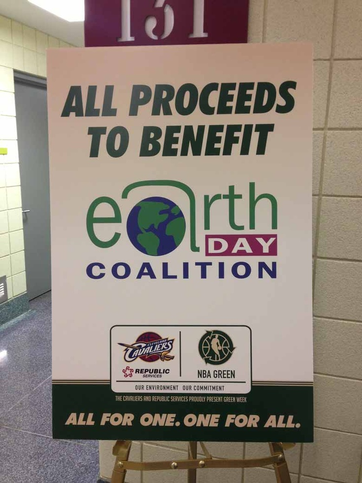 At the April 7th game, all proceeds from the Cavs player apparel & autographed items raffle benefited Earth Day Coalition.