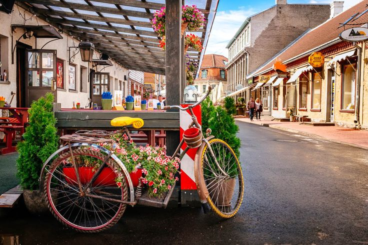 Color Fine Art Photography Print - Bicycle in Pärnu (Estonia, Large Wall Print for Home Decor) by elvistudio on Etsy