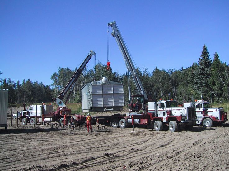 C500 with a 30 ton Manitex. 1979 Pacific P512S and 38124 Manitex unloading a gas compressor.