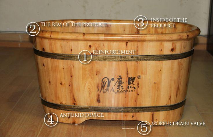 """34"""" Quality wood portable baby bath tub, child size bath tub"""