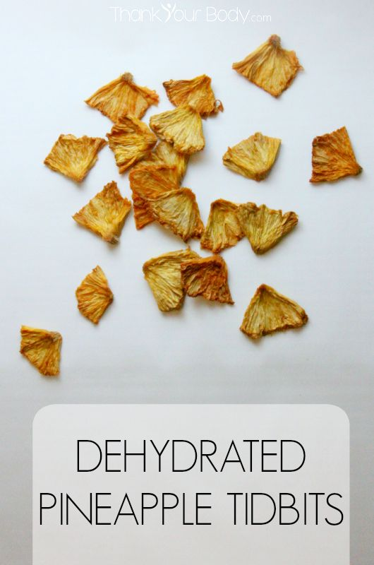 Tasty dried pineapple tidbits are a healthy, sweet treat! #pineapple #realfood #healthysnacks