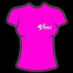 MRA Womens Hot Pink T-Shirt    Shawn Michaels' MacMillan River Adventures Signature Women's T-Shirt. Hot Pink with White MRA Hunting Logo on the front.