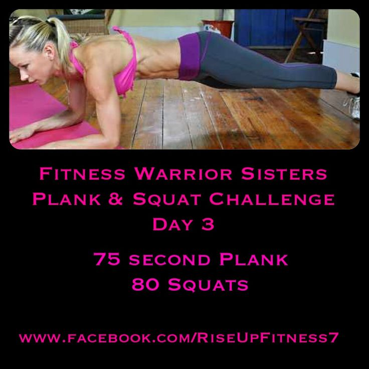I can't believe we are already on day three!  You will notice the length of time for the planks has increased. If you need to split this into smaller sets throughout the day you can do so. Same thing goes for the squats.   As you get used to the planks , I will give you some different ones to do that will challenge you better.  Comment below when finished. I'm here to help cheer you on!  #Plank #challenge #squat #results #workout #worthit