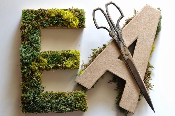〔花嫁DIY〕材料は3つだけでOK!可愛いイニシャルモスオブジェの作り方♡にて紹介している画像