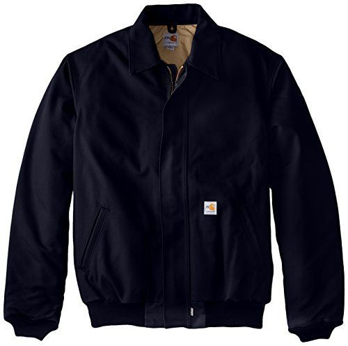 This all-season jacket is designed to last. Resists flash fire and arc flash, but never hard work. It's not just what you want, it's what you need. 13-ounce, 100 percent cotton FR duck, 11.5-ounce FR quilt lining-FR mod acrylic batting quilted to FR twill face cloth, two inside patch...  More details at https://jackets-lovers.bestselleroutlets.com/mens-jackets-coats/work-wear/product-review-for-carhartt-mens-big-tall-flame-resistant-duck-bomber-jacketdark-navy3x-l