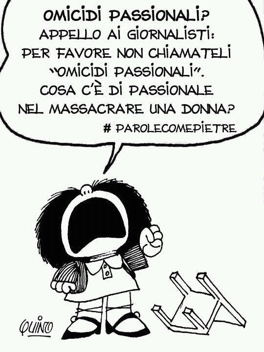 """Mafalda contro """"l'omicidio passionale""""."""