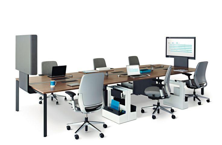 FrameOne Bench s technológiou pre zdieľanie informácií a prezentáciu media:scape mini.