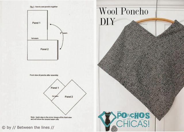 Die besten 17 Bilder zu Ponchos auf Pinterest | Poncho-Muster ...