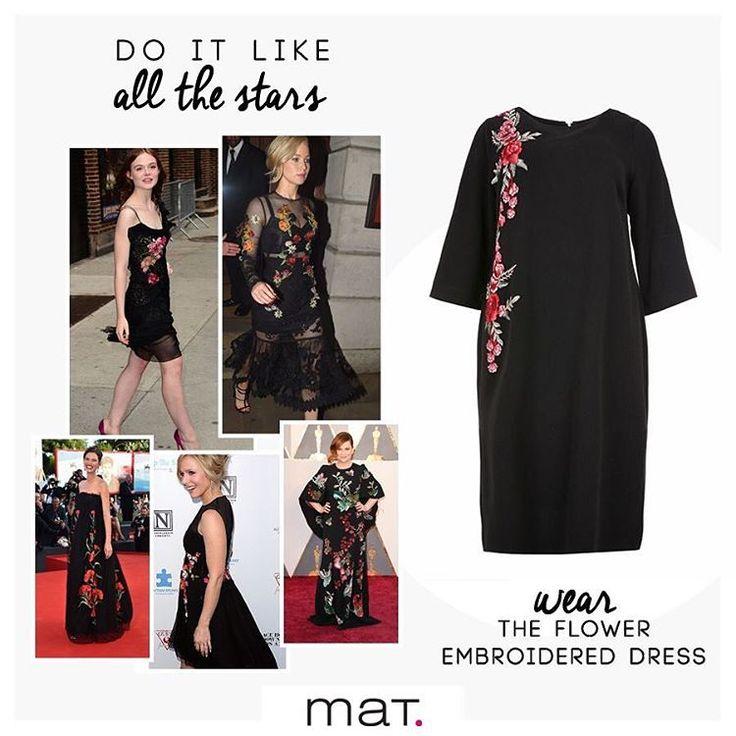 Οι stars υιοθέτησαν το στυλ φορώντας εντυπωσιακά φορέματα με floral απλικαρισμένο κέντημα! Τώρα μπορείς και εσύ φορώντας το φόρεμα της συλλογής μας με κωδικό 661.6198 Ανακάλυψε το ! #matfashion #realsize #getthelook #celebrities 🌸🌿