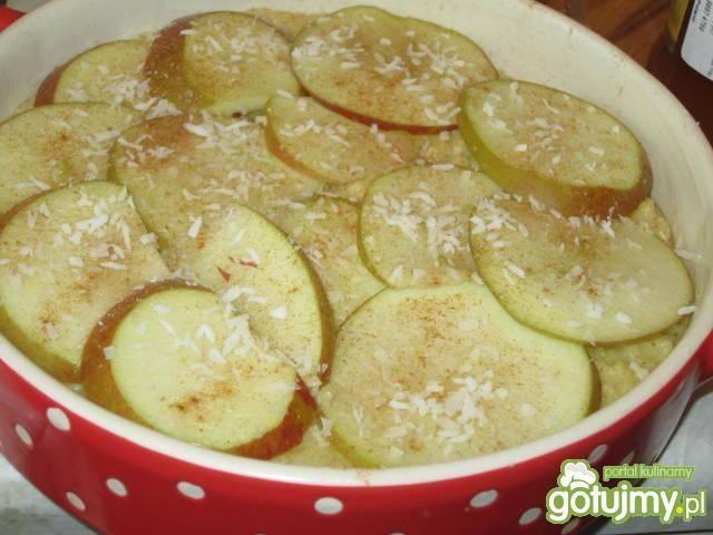 Kasza jaglana zapiekana z jabłkami.