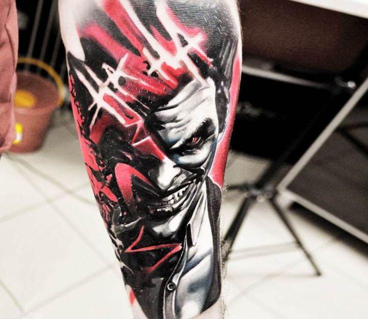 Joker tattoo by Jakub Hanus