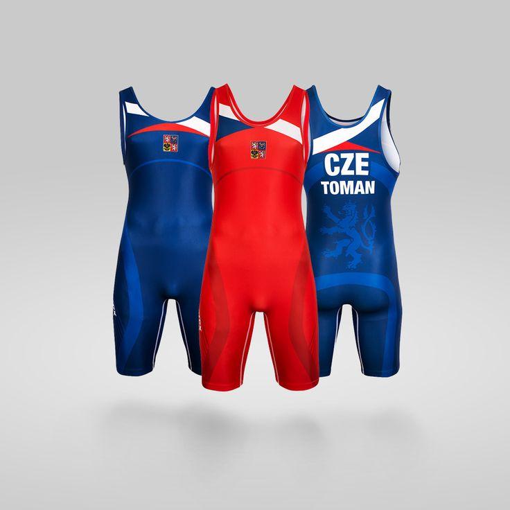 wrestling team suit design for atex sportswear. Czech flag