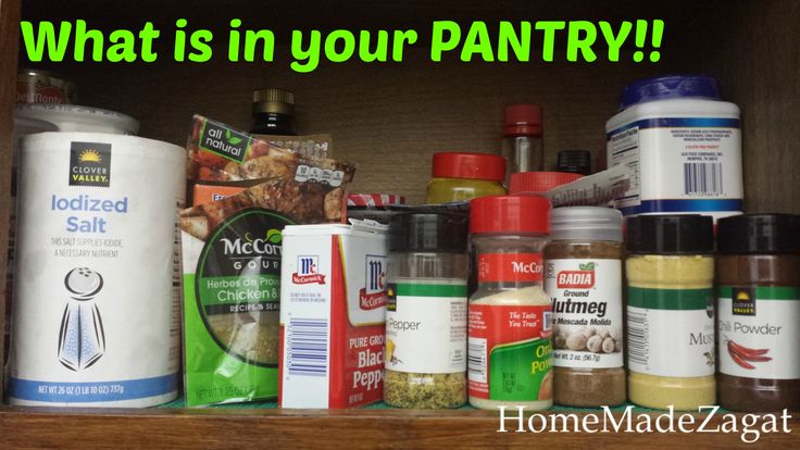 The MUST HAVE Pantry List