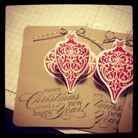 Homemade Tag Stampin Up Tag Holiday Tag by after5creations, $12.00