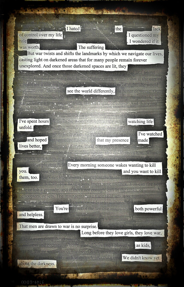 Powerful and Helpless Blackout Poem by