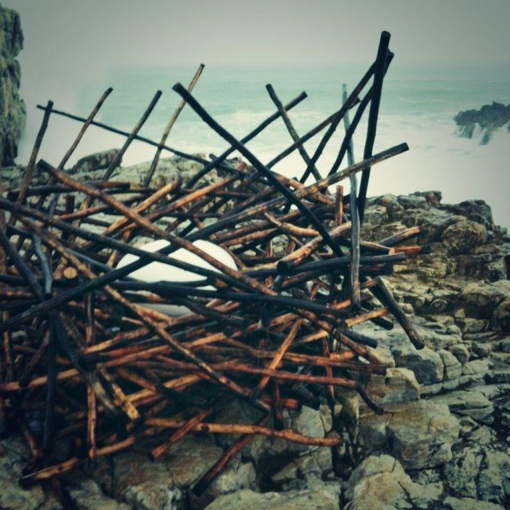 Strijdom vd Merwe's sculpture NEST at Hermanus FynArts 2014