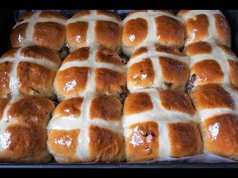 Английские горячие крестовые булочки - Простые рецепты Овкусе.ру