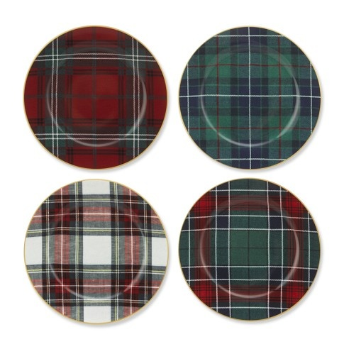 Tartan Plaid Salad Plates, Set of 4  just bought these! merry to me!