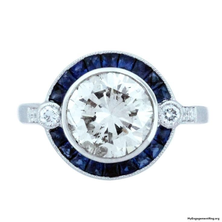 Verlobungsring Aus Weissem Und Blauem Diamanten My Engagement Ring