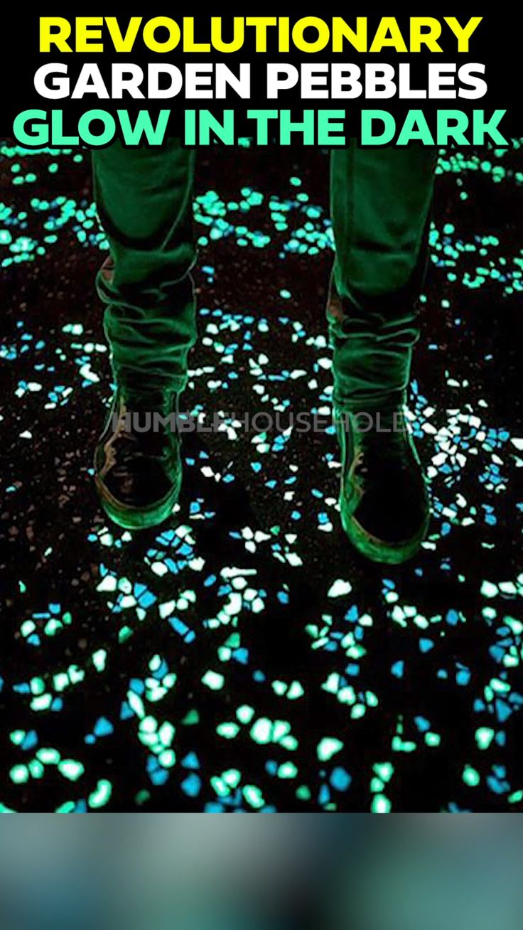 Luminous Pebbles glow in the dark and require no power!