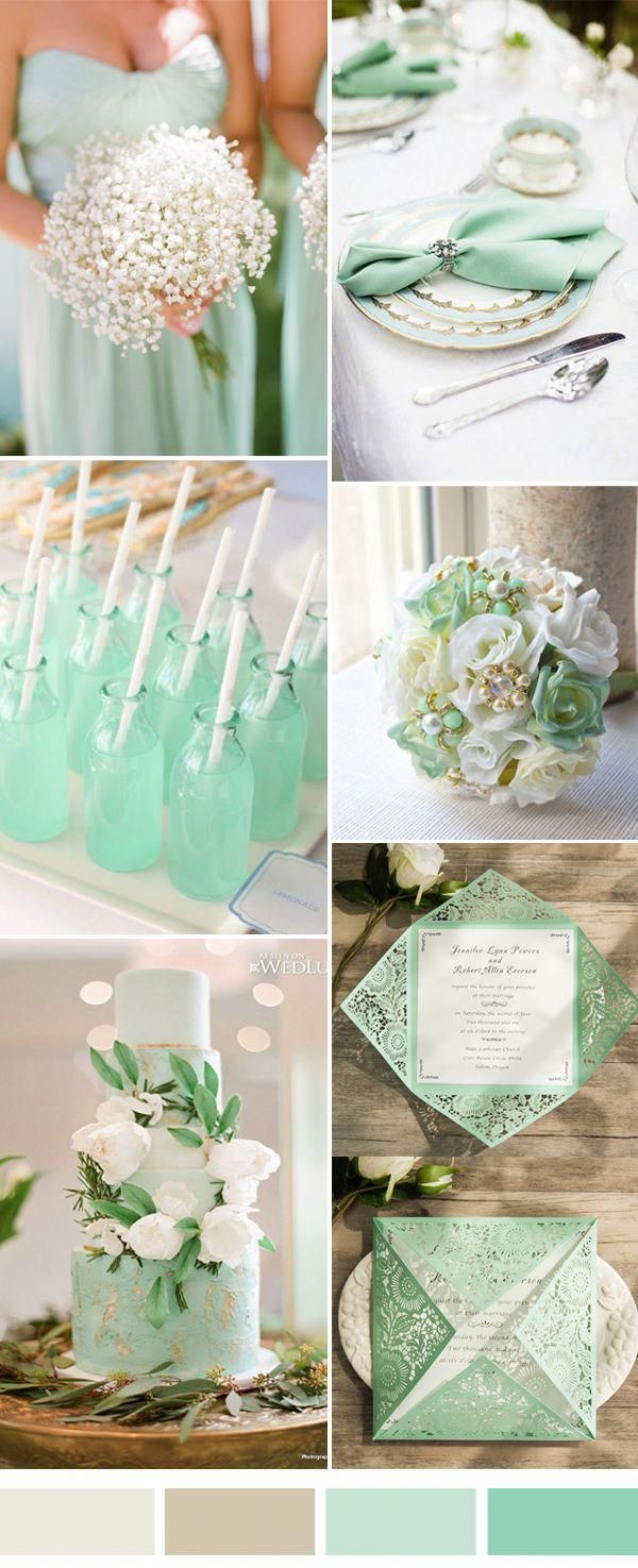 elegant white and mint wedding color ideas weddingideas wedding rh pinterest com