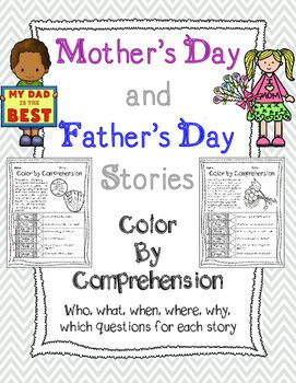 Kids LOVE holiday themed stories, and they love to color, so I came up with a the perfect combination.  They can read the story and color the picture according to the correct reading comprehension answer!  These would be great to use as morning work, homework, classwork, or for your guided reading groups.This product is part of a bundle.