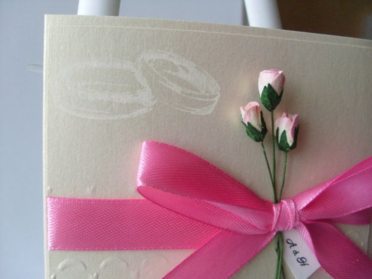 5 Simple but Gorgeous Handmade Wedding Cards
