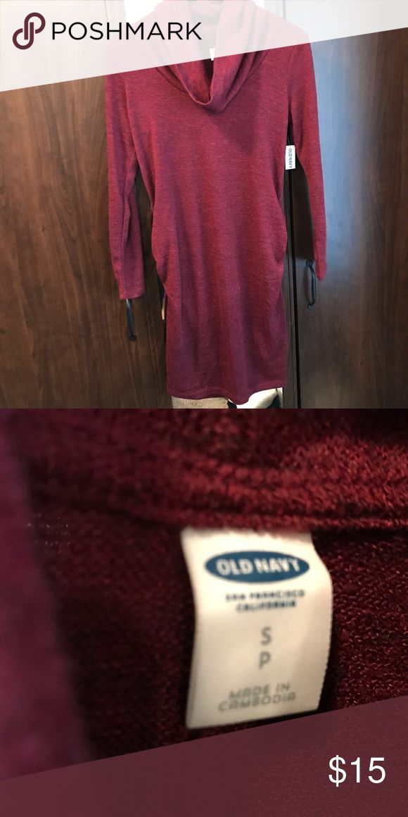 New Old Navy maternity dress Sz. S Cute maroon sweater dress from Old Navy. Brand new Old Navy Dresses