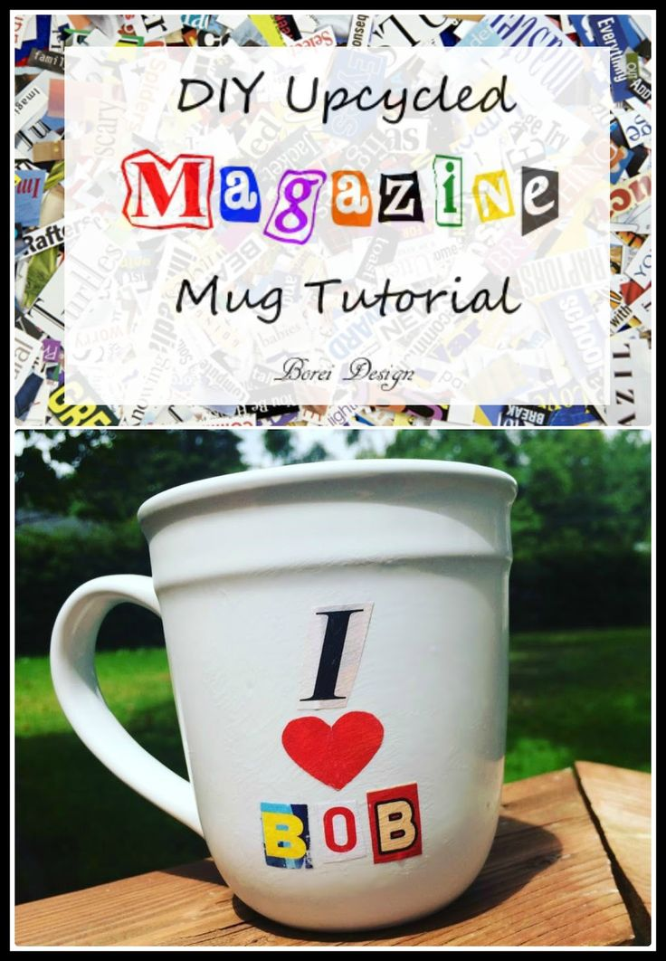 DIY Upcyled Personalized Magazine Mug Tutorial