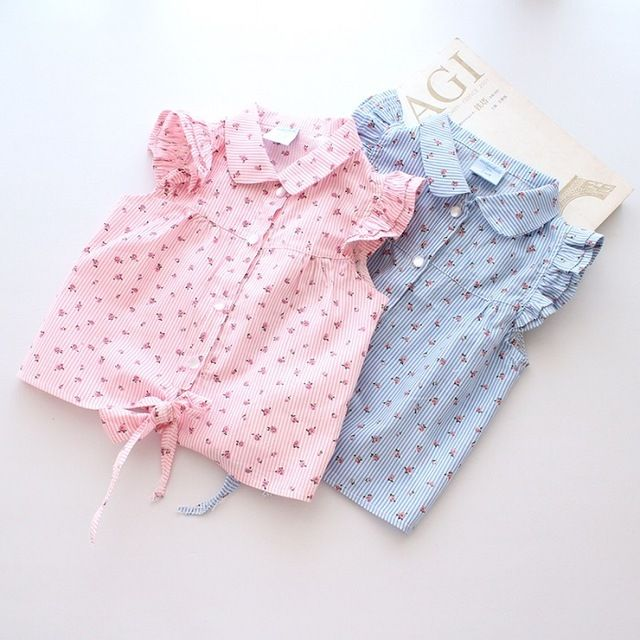 【 $8.37 & Free Shipping 】New Spring Summer Girl Blouses Kids Shirts Fantasy Children Casual Floral Cotton Clothing Clothes Wear | worth buying on AliExpress