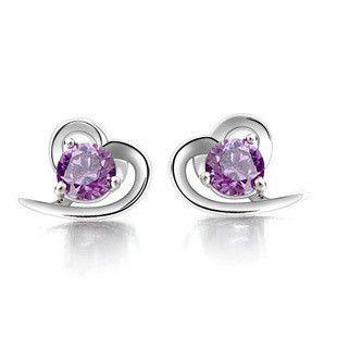 SODIAL(R) 925 sterling silver handmade earrings Lilac flower long earrings for women fine jewelry wholesale tmUi5h