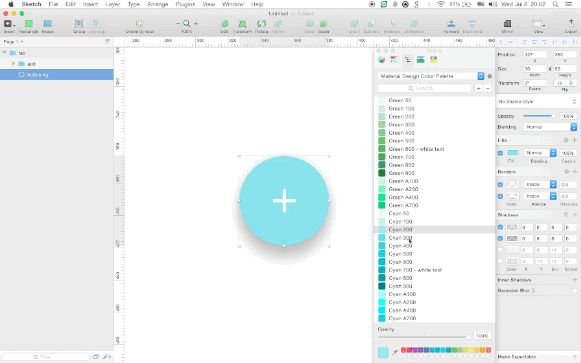 Import the Material Design palette into Sketch
