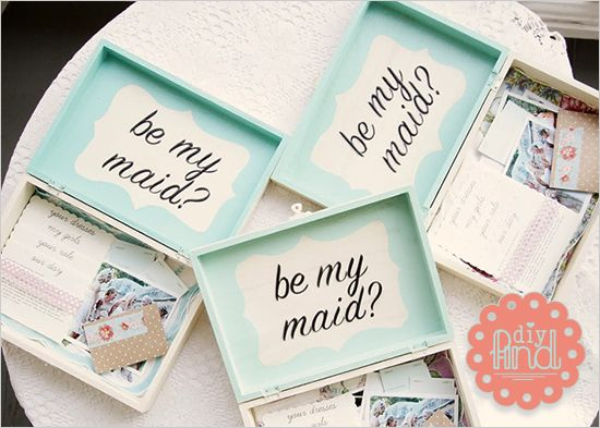 """Nice little """"be my maid"""" boxes"""