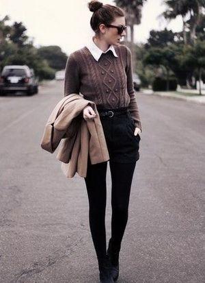 С чем носить черные шорты