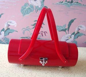 New Amazing Red Lucite Handbag!