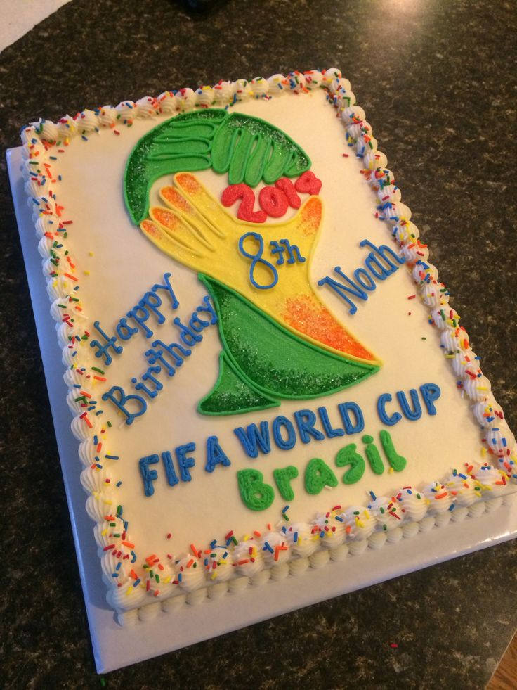 Fifa World Cup Cake My Cakes Pinterest World Cup