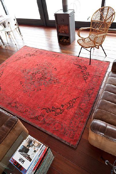 Vintage Heriz Antique Scarlet 8031