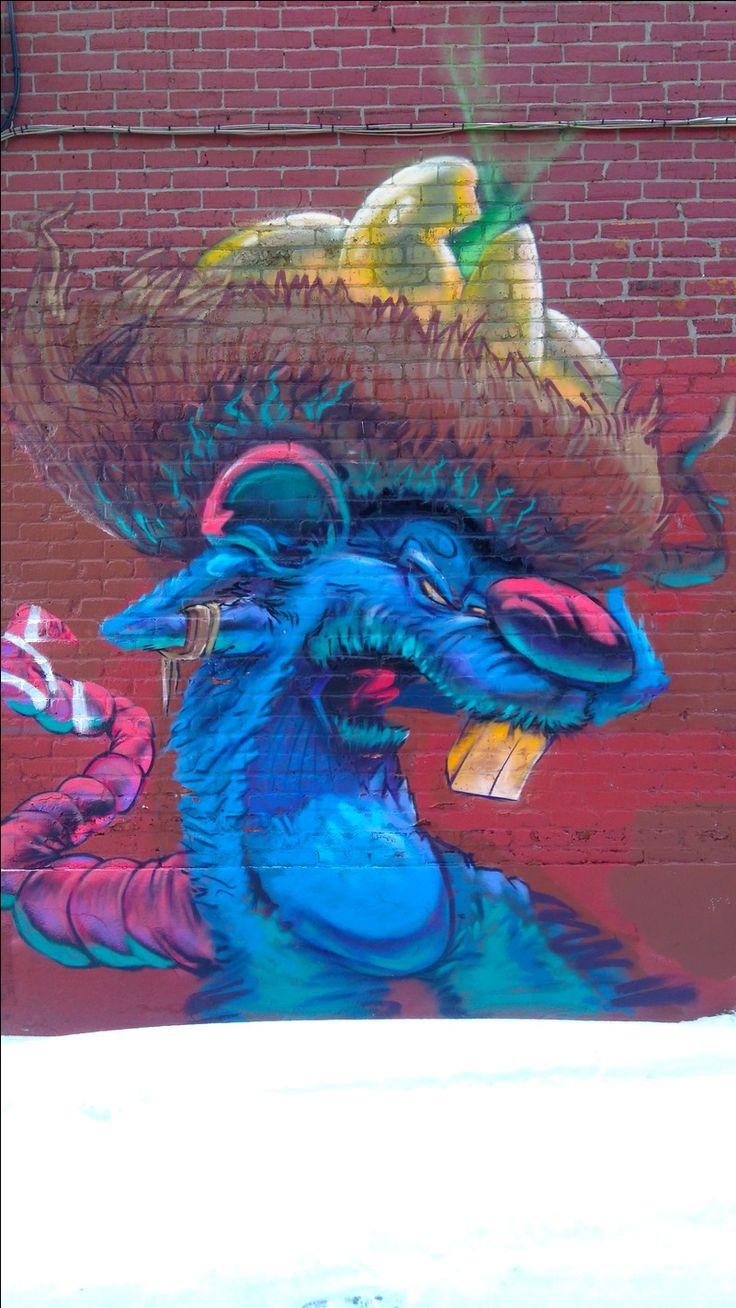 Street Art dans le quartier Mile End à Montréal