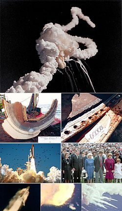 Challenger Explosion--killing all 7 crew members.  28 January 1986.  My son's 8th birthday.