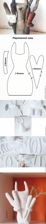 Шьем кофейную игрушку «Мартовский заяц» - Ярмарка Мастеров - ручная работа, handmade
