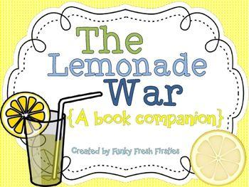 The Lemonade War Book Companion {comp. questions, response