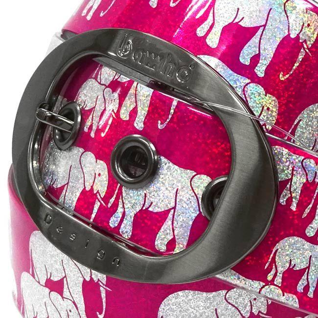 ゾウ ホログラム ピンク 39mm http://bahodesign.com/elephant-159   #ゴルフ #ベルト #bahodesign #バホデザイン #バホ #日本 #大阪 #ホログラム #ミラージュ #ごるふ #亀谷産業