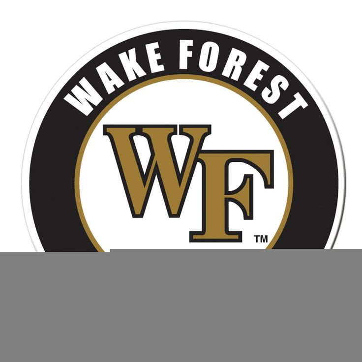 BSI Wake Forest College Sports Team Logo Decorated Car Truck Vehicle Door Surface Stick Vinyl Magnet