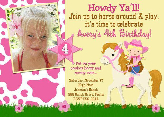45 best Girl Birthday invitations images on Pinterest