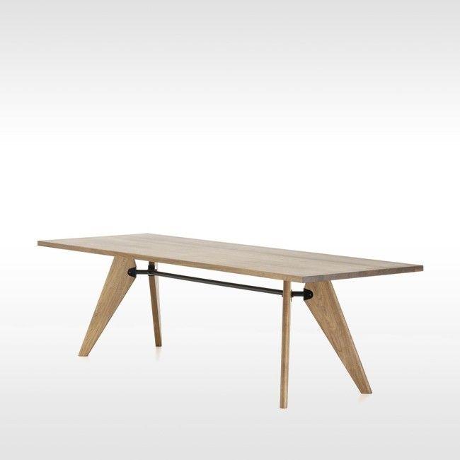 vitra tafel table solvay geolied amerikaans notenhout door jean prouvé   Designlinq