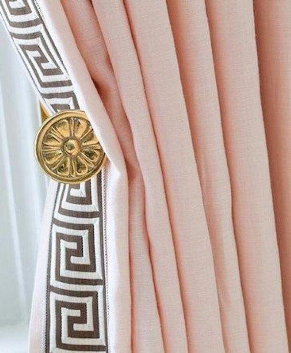 Pale Pink D Powder Curtains Baby Draperies Light Window Blush Linen Ice Ballet